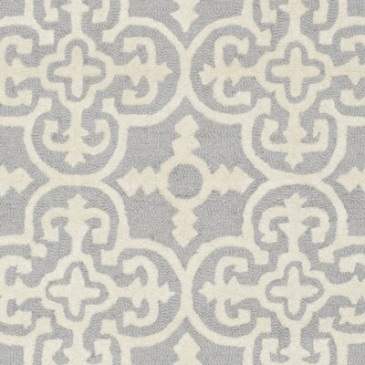 Nicholls Gray Hand-Woven Wool Area Rug Rug Size: Rectangle 8 x 10