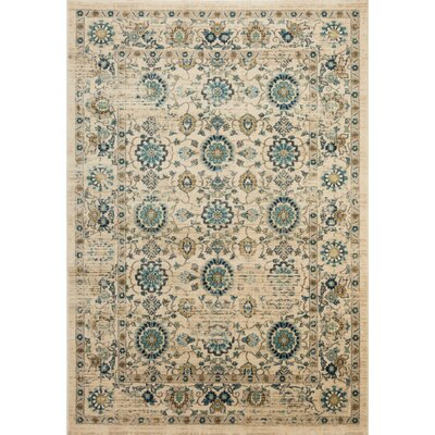 Montelimar Beige/Turquoise Area Rug Rug Size: Rectangle 9 x 12
