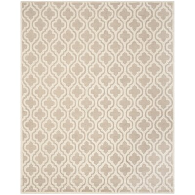 Cambridge Hand-Tufted Mocha/Ivory Area Rug Rug Size: Rectangle 8 x 10