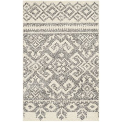 St. Ann Highlands Beige/Silver Area Rug Rug Size: Rectangle 10 x 14