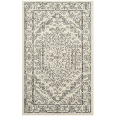 Glover Contemporary Ivory/Silver Area Rug Rug Size: Rectangle 3 x 5