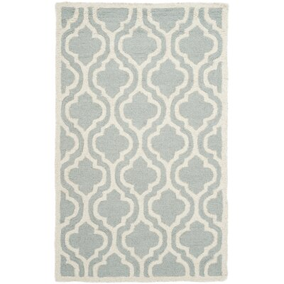 Cambridge Hand-Tufted Spa/Ivory Area Rug Rug Size: 2 x 3