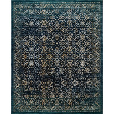 Mandy Cream/Navy Area Rug Rug Size: Rectangle 8 x 10