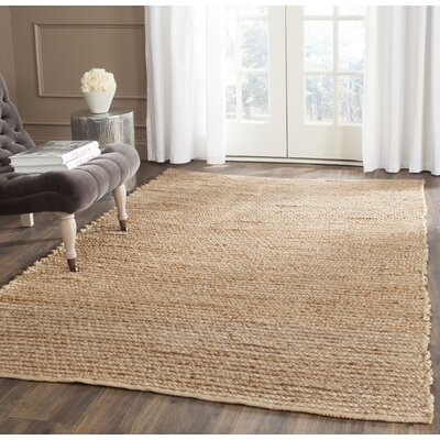 Gilchrist Hand-Woven Brown Area Rug Rug Size: Square 6