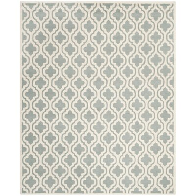 Cambridge Hand-Tufted Spa/Ivory Area Rug Rug Size: 8 x 10