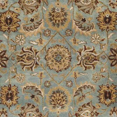 Cardwell Hand-Tufted Blue/Beige Area Rug Rug Size: Rectangle 4 x 6