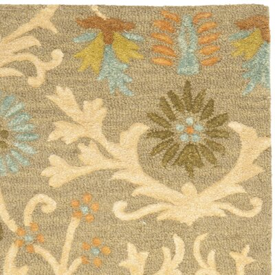 Parker Lane Hand-Tufted Wool Moss/Beige Area Rug Rug Size: Runner 26 x 6