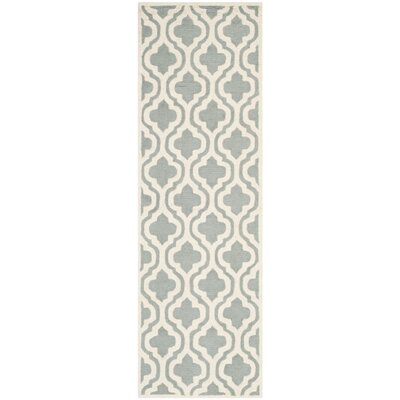 Mahoney Hand-Tufted Spa/Ivory Area Rug Rug Size: Rectangle 9 x 12