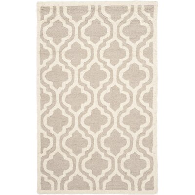 Mahoney Hand-Tufted Mocha/Ivory Area Rug Rug Size: Rectangle 5 x 8
