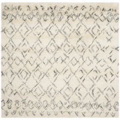 Gholston White/Grey Area Rug Rug Size: Square 6