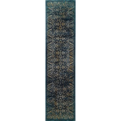Mandy Cream/Navy Area Rug Rug Size: 8 x 10