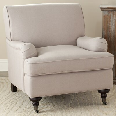 Leah Arm Chair Upholstery: Taupe
