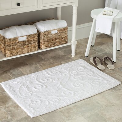 2 Piece Plush Master Bath Rug VI Set Size: 45 H x 27 W, Color: White