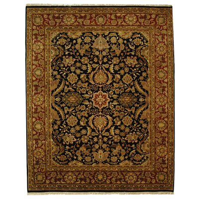 Dynasty Black/Red Kashan Rug Rug Size: 9 x 12