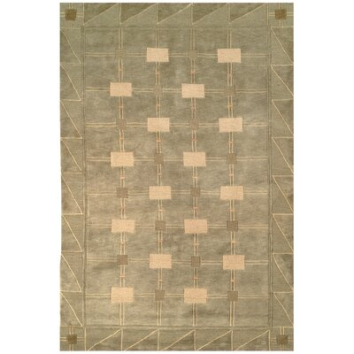 Tibetan Symmetry Sage/Oyster Area Rug Rug Size: Rectangle 5 x 76