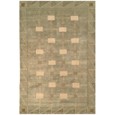 Tibetan Symmetry Sage/Oyster Area Rug Rug Size: 5 x 76