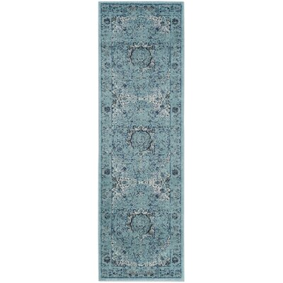 Alia Light Blue Area Rug Rug Size: Runner 22 x 15