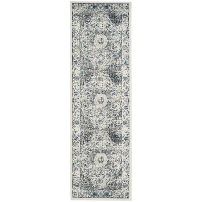 Aleyna Gray/Ivory Area Rug Rug Size: Runner 22 x 13