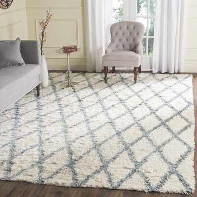 Keston Blue / Ivory Area Rug Size: Rectangle 6 x 9