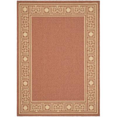 "Safavieh Courtyard Rust/Sand Geometric Outdoor Rug - Rug Size: 4' x 5'7"" at Sears.com"