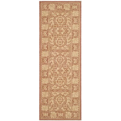 Shani Rust/Sand Outdoor Rug Rug Size: Rectangle 27 x 5