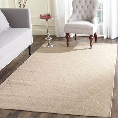 Brewster Hand-Woven Seagrass Area Rug Rug Size: Rectangle 4 x 6