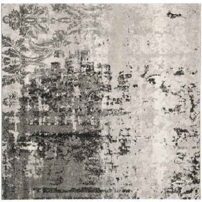 Dayna Gray Area Rug Rug Size: Square 4'