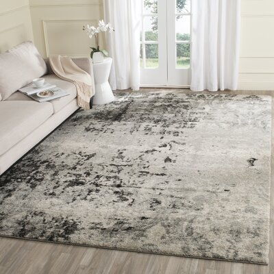 Dayna Gray Area Rug Rug Size: Rectangle 26 x 4