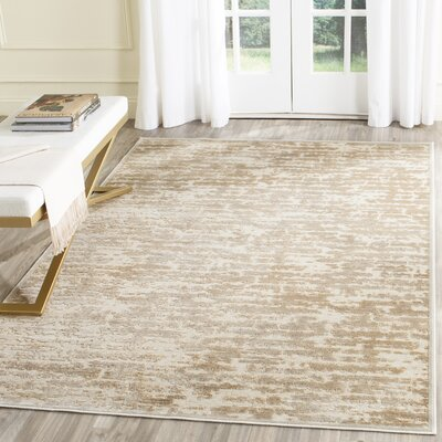 Lindsay Silk Stone/Cream Area Rug Rug Size: Rectangle 27 x 4