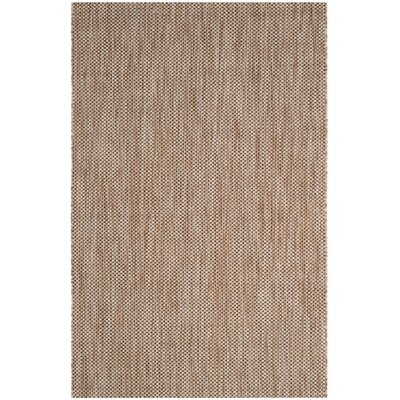 Courtyard Natural / Black Area Rug Rug Size: 8' x 11'