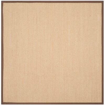 Trinidad Maize / Brown Area Rug Rug Size: Square 6'