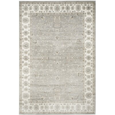 Setser Silver/Ivory Area Rug Rug Size: Rectangle 8 x 10