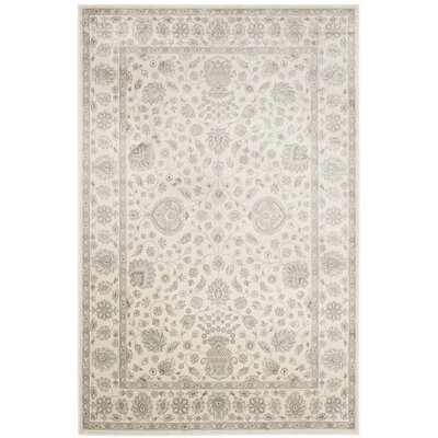 Setser Silver/Cream Area Rug Rug Size: Rectangle 8 x 10