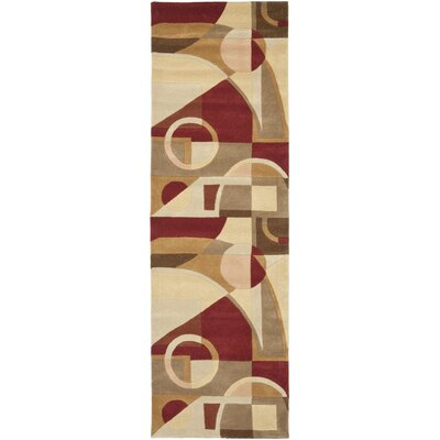 Rodeo Drive Hand-Tufted Beige/Brown Area Rug Rug Size: Runner 26 x 8