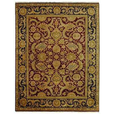 Dynasty Burgundy/Black Area Rug Rug Size: Rectangle 8 x 10
