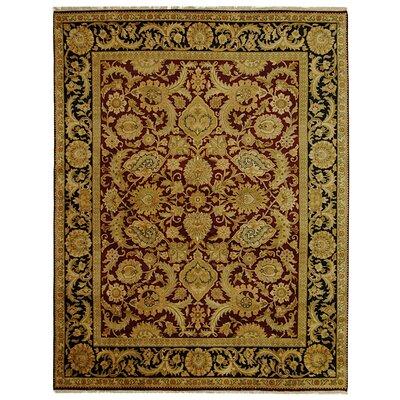 Dynasty Burgundy/Black Area Rug Rug Size: Rectangle 8 x 10