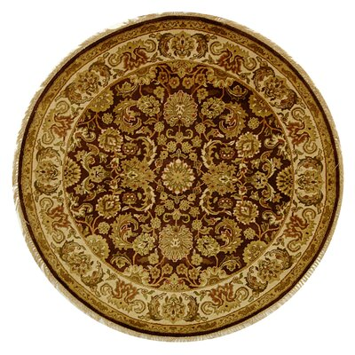 Dynasty Cola/Beige Area Rug Rug Size: Round 6