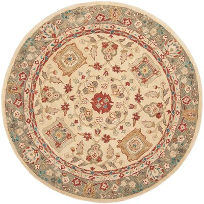 Pritchard Hand Knotted Area Rug Rug Size: Rectangle 5 x 8