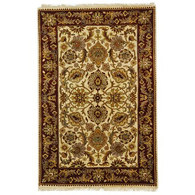 Dynasty Brown Area Rug Rug Size: 4 x 6