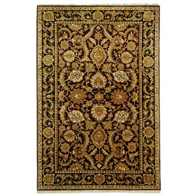 Dynasty Burgundy/Black Area Rug Rug Size: Rectangle 6 x 9