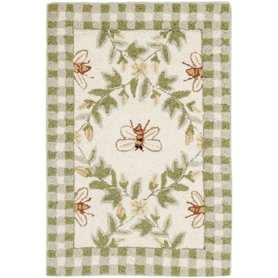 Isabella Ivory / Green Bumblebee Area Rug