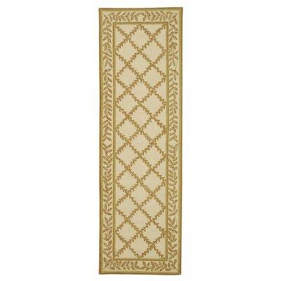 Kinchen Ivory/Camel Area Rug Rug Size: Runner 26 x 8