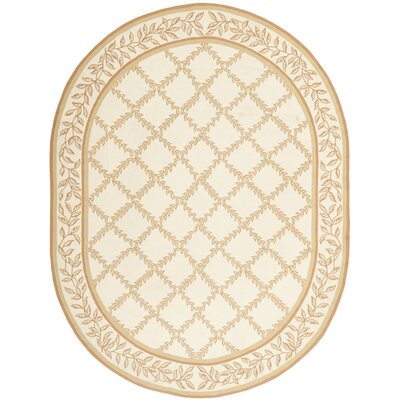 Kinchen Ivory/Camel Area Rug Rug Size: Rectangle 6 x 9