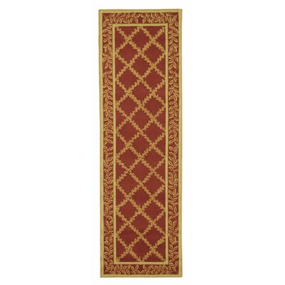 Kinchen Rust/Gold Wilton-Trellis Area Rug Rug Size: Rectangle 26 x 4
