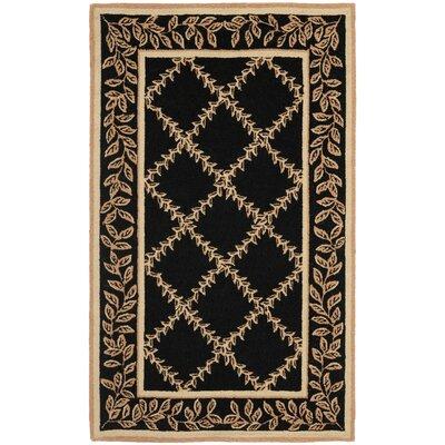 Isabella Black / Gold Wilton Trellis Area Rug Rug Size: 39 x 59