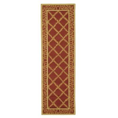 Kinchen Rust/Gold Wilton-Trellis Area Rug Rug Size: Runner 26 x 6