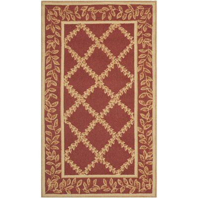 Kinchen Rust/Gold Wilton-Trellis Area Rug Rug Size: Rectangle 29 x 49