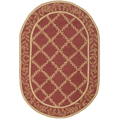Isabella Rust / Gold Wilton-Trellis Area Rug Rug Size: Oval 76 x 96