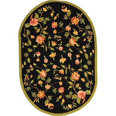 Kinchen Floral Area Rug Rug Size: Oval 76 x 96