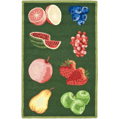 Kinchen Green Savoy Fruit Novelty Area Rug Rug Size: Rectangle 26 x 4